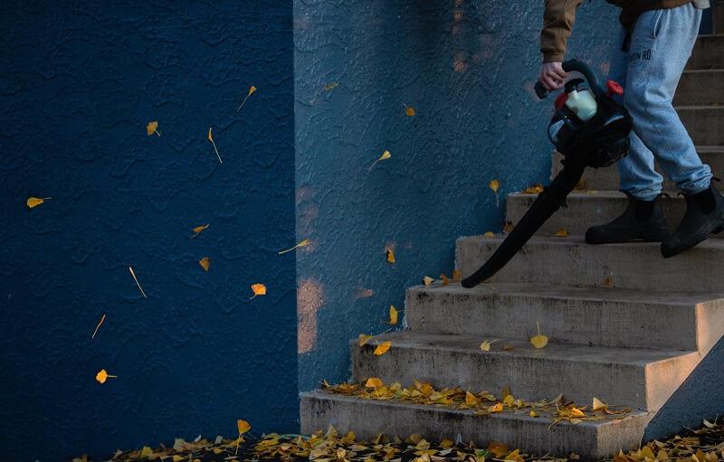 Souffleur de feuilles bruyant
